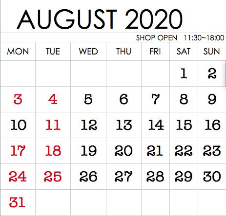 8月 ROBITA'S営業日のお知らせ